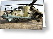 An Mi-24 Russian Helicopter Greeting Card