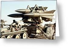 An Mim-23b Hawk Surface-to-air Missile Greeting Card