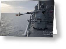 An Mk38 Mod 2 25mm Machine Gun System Greeting Card