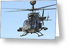 An Oh-58 Kiowa Takes Greeting Card