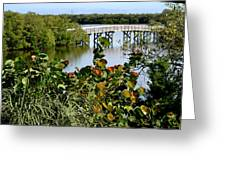 An Old Fishing Bridge Greeting Card