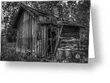 An Old Sauna Greeting Card