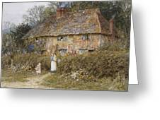 An Old Surrey Cottage Greeting Card