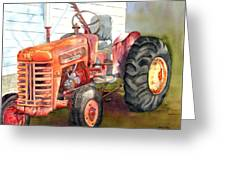 An Old Tractor Greeting Card