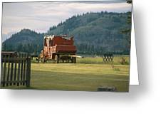 An Orginal Carriage And Other Equipment Greeting Card
