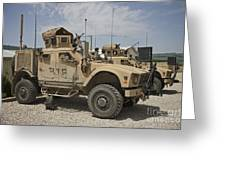 An Oshkosh M-atv Parked At A Military Greeting Card
