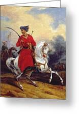An Ottoman On Horseback Greeting Card