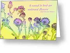 An Unloved Flower Greeting Card