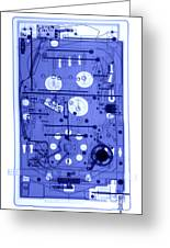 An X-ray Of A Pinball Machine Greeting Card