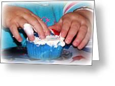Anatomy Of A Cupcake Greeting Card by Maureen  McDonald