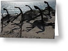 Anchor Beach 15 Greeting Card