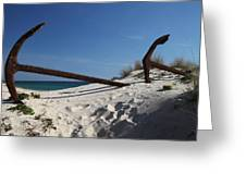 Anchor Beach 8 Greeting Card