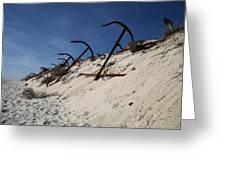Anchor Beach Greeting Card