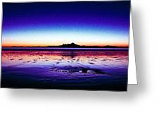 Anchor Point Beach Twilight Greeting Card
