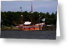 Anchored Ship Greeting Card