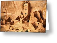 Ancient Anasazi Indian Cliff Dwellings Greeting Card