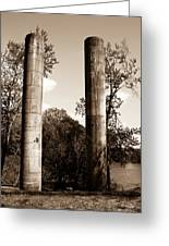 Ancient Columns By The River Greeting Card