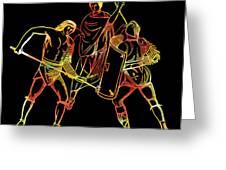 Ancient Roman Gladiators Greeting Card