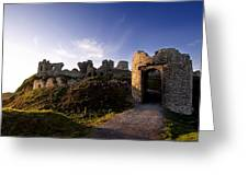 Ancient Ruins On Top Of The Rock Greeting Card