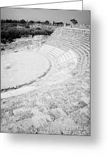Ancient Site Of Roman Theatre At Salamis Famagusta Turkish Republic Of Northern Cyprus Trnc Greeting Card by Joe Fox