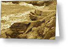 Ancient Steps Of Italy Greeting Card