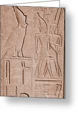 Ancient Stone Carvings, Karnak, Egypt Greeting Card