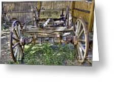 Ancient Wagon Frame Greeting Card
