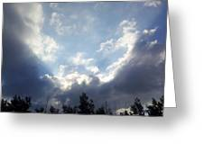 And The Clouds Opened Up Greeting Card