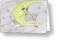 And The Cow Jumped Over The Moon Greeting Card