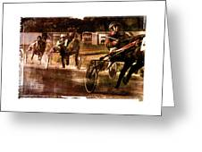 and the winner is - A vintage processed Menorca trotting race Greeting Card