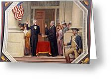 Andrew Jackson At The First Capitol Inauguration - C 1829 Greeting Card