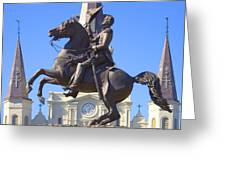 Andrew Jackson Statue Greeting Card