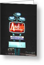 Andy's Drive-in Greeting Card