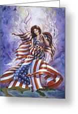 Angel America Greeting Card