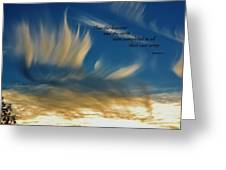 Angel Clouds Greeting Card