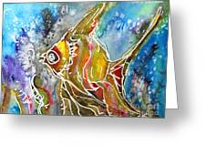 Angel Fish Greeting Card by M C Sturman