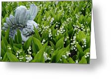 Angel In The Lilies Greeting Card
