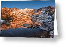 Angel Lake Alpenglow Greeting Card