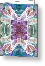 Angel Of The Crystal World Greeting Card