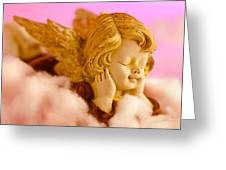 Angel Resting On Clouds And Enjoying The Sun Greeting Card
