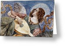 Angel With A Lute Greeting Card by Granger