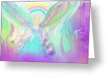 Angel Working Greeting Card by Rosana Ortiz