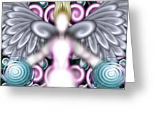 Angelic Flares Greeting Card