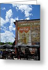 Angell's Deli Greeting Card by Anjanette Douglas