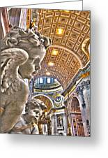 Angels At The Vatican Greeting Card