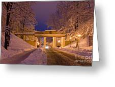 Angels Bridge In Winter Greeting Card by Jaak Nilson