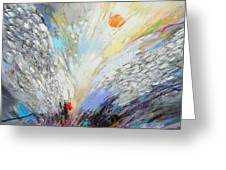Angels Presence  - Square Painting Greeting Card