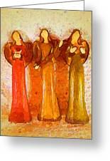 Angels Rejoicing Together Greeting Card