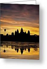 Angkor Wat At Sunrise II Greeting Card