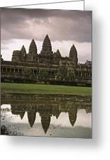 Angkor Wat Temple Reflected Greeting Card